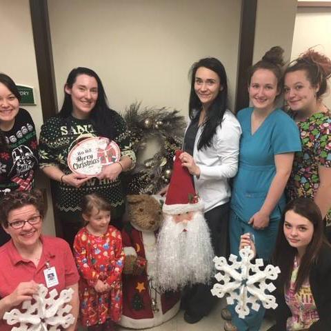 Image of Kadima Family on Christmas at Kadima at Lakeside Nursing and Rehabilitation Facility