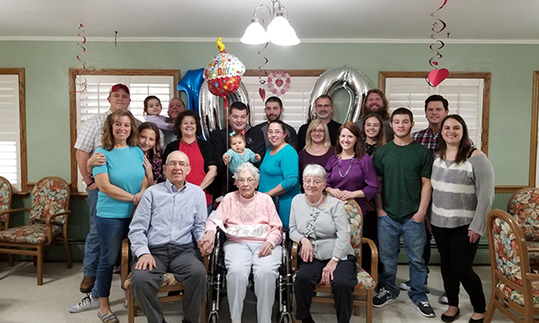 The Kadima Family Staff and Residents at 100th Birthday Party