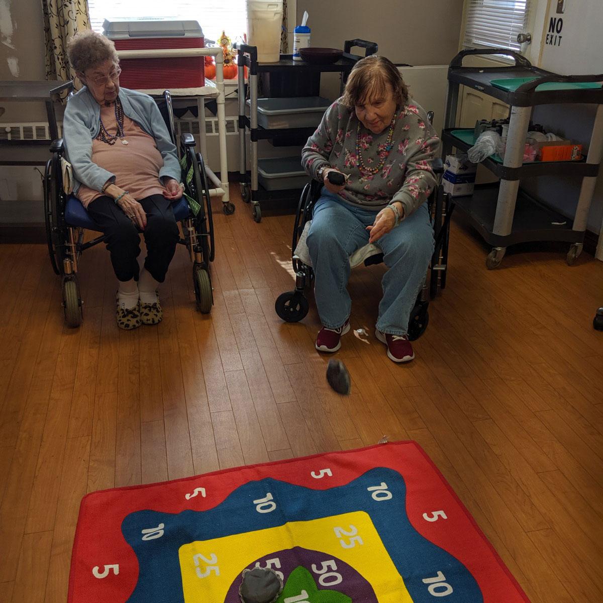 Image of residents playing game at Kadima at Palmyra Nursing and Rehabilitation Facility