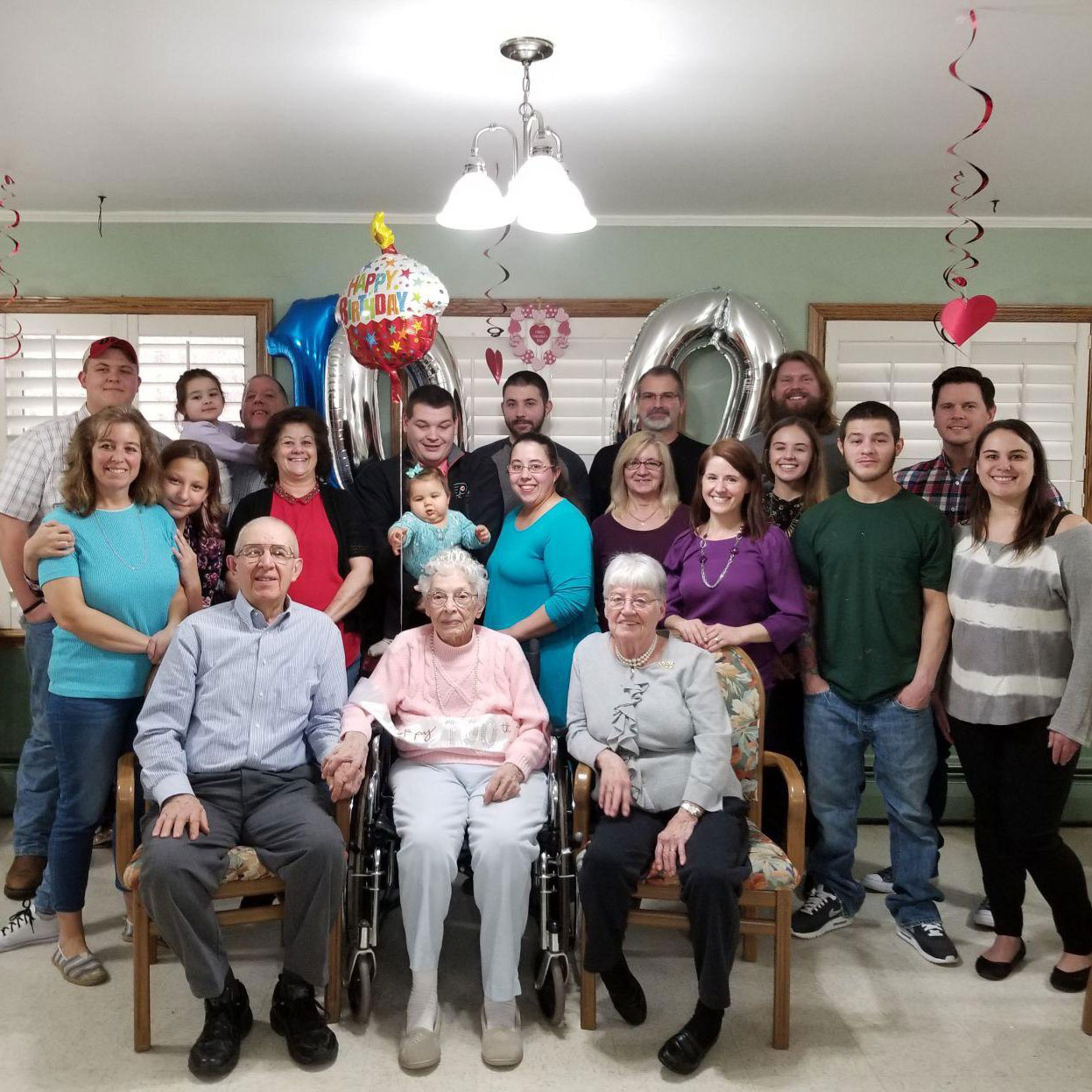 Image of 100th Birthday Party at Kadima at Pottstown Nursing and Rehabilitation Facility
